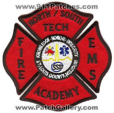 North South Tech Fire EMS Academy School Saint Louis County St Patch Missouri MO - SKU147