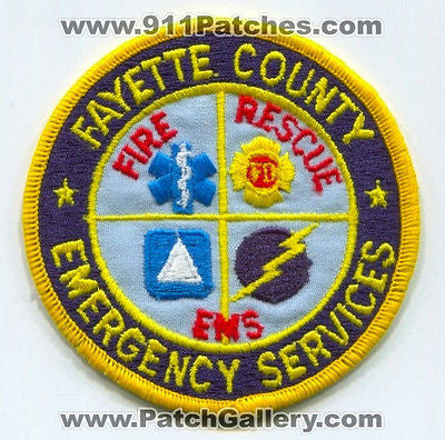 Fayette County Emergency Services Fire Rescue EMS Department Patch Georgia GA - SKU73
