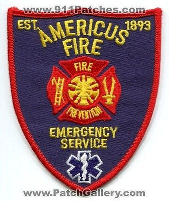 Americus Fire Department Emergency Service Dept FD Rescue EMS Patch Georgia GA