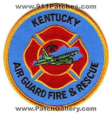 Kentucky Air National Guard ANG Fire and Rescue Dept EMS USAF Military Patch KY