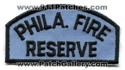 Philadelphia Fire Department Reserve PFD Rescue EMS Patch Pennsylvania PA OLD - SKU158