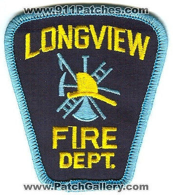 Longview Fire Department Dept FD Rescue EMS Patch Washington WA Patches USED - SKU107
