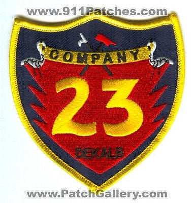 Dekalb County Fire Rescue Department Company 23 Station DCFD Patch Georgia GA