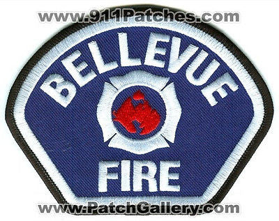 Bellevue Fire Department Patch Washington WA Blue Red Center Used