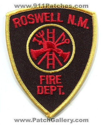 Roswell Fire Department Dept RFD Rescue EMS Patch New Mexico NM Patches NEW - SKU168