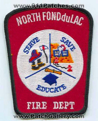 North Fond Du Lac Fire Department Dept FD Rescue EMS Patch Wisconsin WI Patches - SKU144