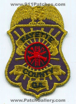 Fayette County Fire Department Dept FD Rescue EMS Patch Georgia GA Patches USED - SKU73