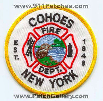 Cohoes Fire Department Dept FD Rescue EMS Patch New York NY Patches (With Date)