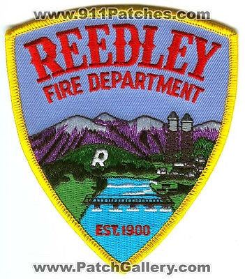 Reedley Fire Department Dept FD Rescue EMS Patch California CA Patches NEW