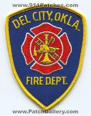 Del City Fire Department Dept FD Rescue EMS Patch Oklahoma OK Patches OLD P/E - SKU65