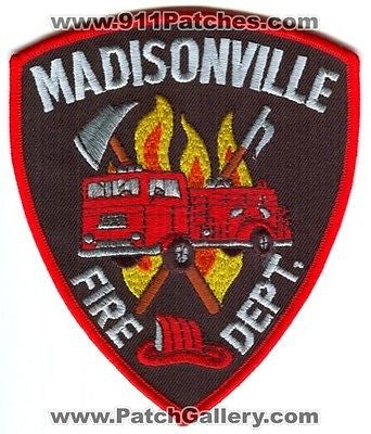 Madisonville Fire Department Dept FD Rescue EMS Patch Tennessee TN NEW - SKU110