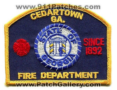Cedartown Fire Department Dept FD Rescue EMS Patch Georgia GA Patches NEW
