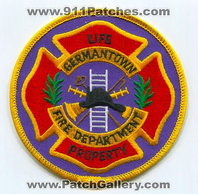 Germantown Fire Department Dept GFD Rescue EMS Patch Tennessee TN Patches NEW - SKU79