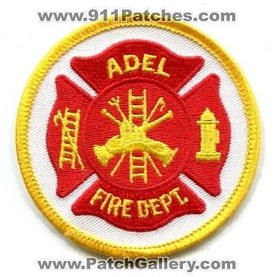 Adel Fire Department Dept FD Rescue EMS Patch Georgia GA Patches Yellow