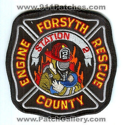 Forsyth County Fire Department Station 2 Company Engine Rescue Patch Georgia GA - SKU75
