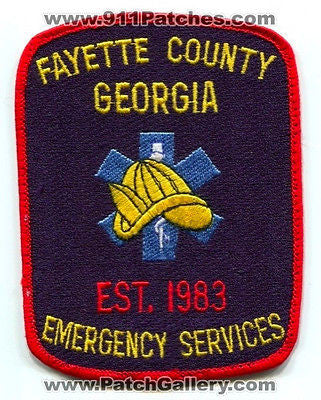 Fayette County Emergency Services Fire EMS Department Rescue Patch Georgia GA