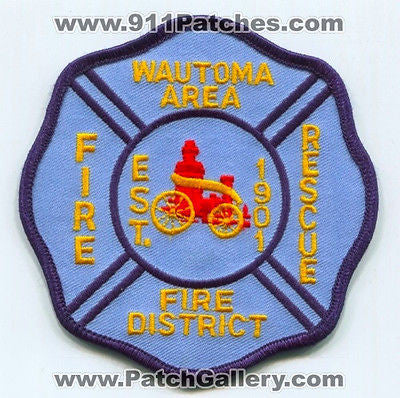 Wautoma Area Fire Rescue District Department Dept EMS Patch Wisconsin WI