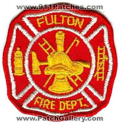 Fulton Fire Department Dept FFD Rescue EMS Patch South Carolina SC OLD