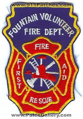 Fountain Volunteer Fire Rescue Department First Aid Rescue EMS Patch Colorado CO - SKU77