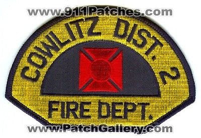 Cowlitz County Fire District Number 2 Department Rescue Patch Washington WA NEW - SKU61