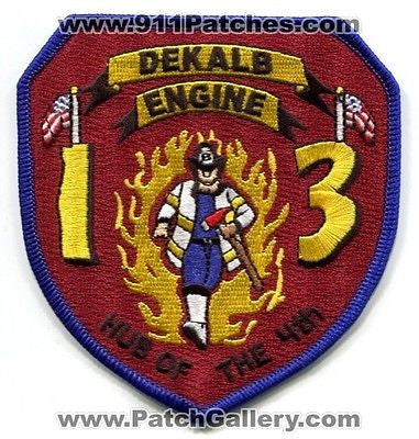 Dekalb County Fire Rescue Department Engine 13 Company Station Patch Georgia GA - SKU64