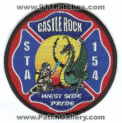 Castle Rock Fire and Rescue Department Station 154 CRFD Dragon Patch Colorado CO - SKU55