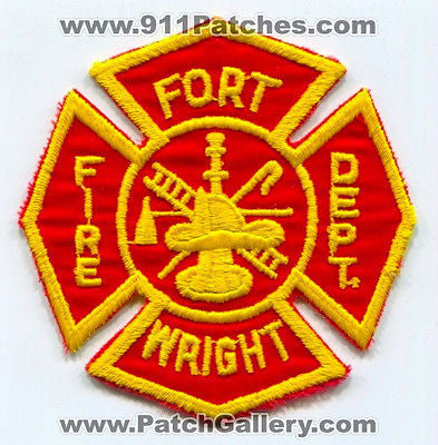 Fort Ft Wright Fire Department Dept FD Rescue EMS Patch Kentucky KY Patches OLD
