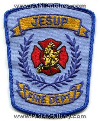 Jesup Fire Department Dept FD Rescue EMS Patch Georgia GA Patches Old Style