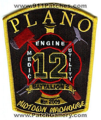 Plano Fire Department Station 12 Company Engine Medic Utility B2 Patch Texas TX