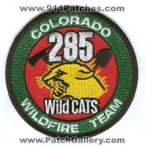 285 Wild Cats Wildfire Team Forest Fire Wildland Patch Colorado CO