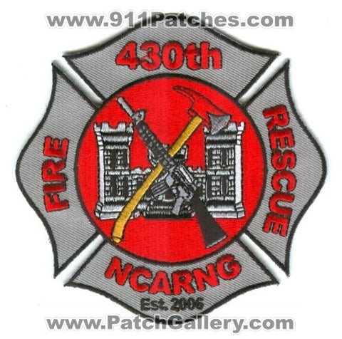 430th Fire Rescue Department US Army Reserve National Guard Military Patch North Carolina NC