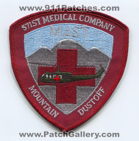 571st Medical Company MAST Mountain Dustoff Army Military Patch Colorado CO