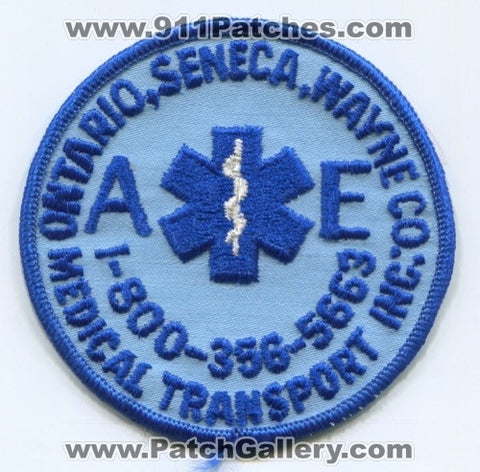AE Medical Transport Inc EMS Patch New York NY