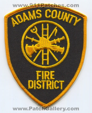 Adams County Fire District Patch Wisconsin WI