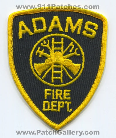 Adams Fire Department Patch Unknown State
