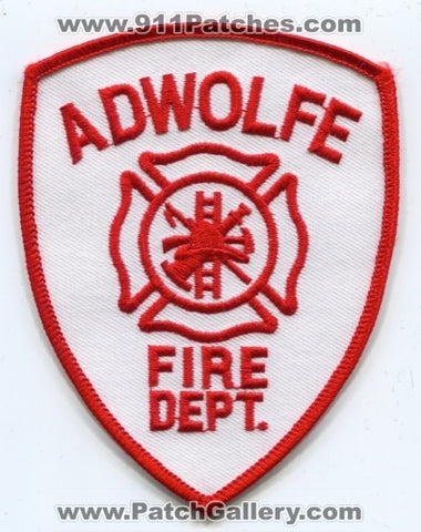 Adwolfe Fire Department Patch Virginia VA