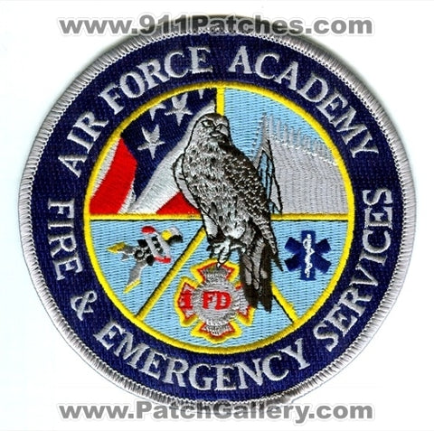 Air Force Academy AFA Fire and Emergency Services USAF Military Patch Colorado CO