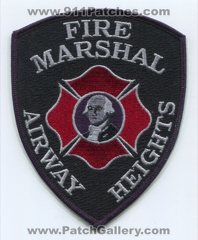 Airway Heights Fire Department Fire Marshal Patch Washington WA