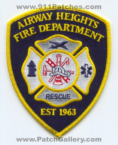 Airway Heights Fire Rescue Department Patch Washington WA