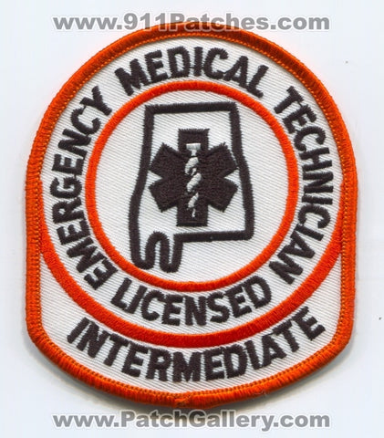 Alabama State Licensed Emergency Medical Technician EMT Intermediate EMS Patch Alabama AL