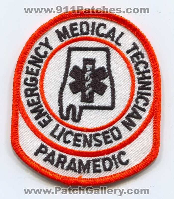 Alabama State Licensed Emergency Medical Technician EMT Paramedic EMS Patch Alabama AL
