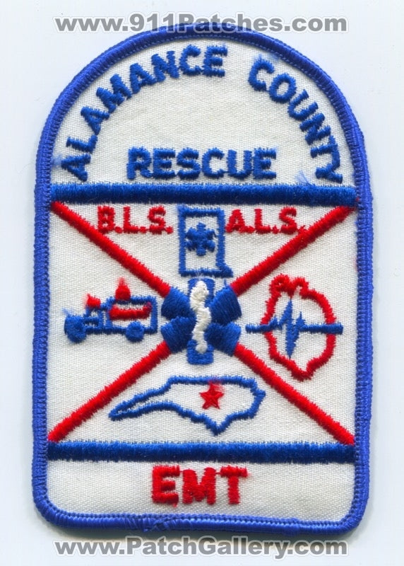 Alamance County Rescue Emergency Medical Technician EMT EMS Patch North Carolina NC