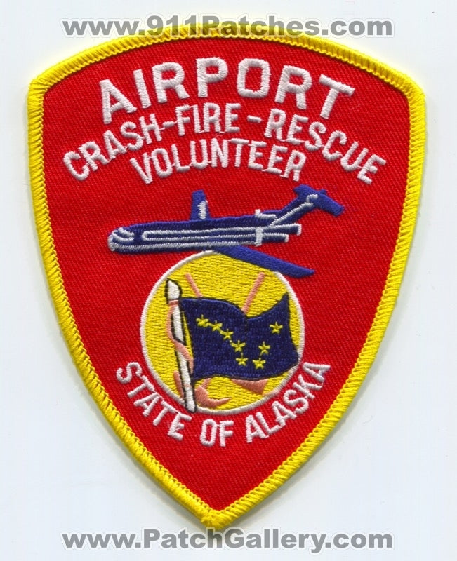 Alaska Airport Crash Fire Rescue CFR Volunteer Department Patch Alaska AK