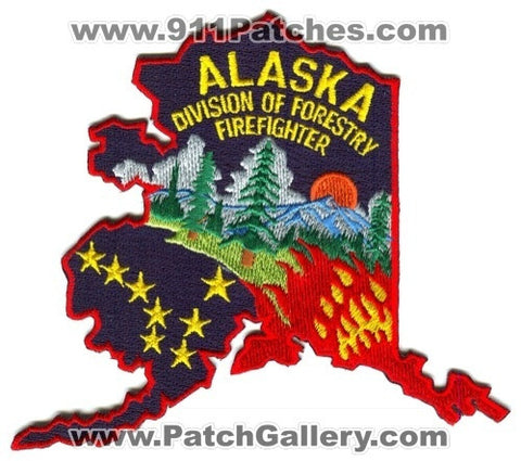 Alaska Division of Forestry Firefighter Patch Alaska AK