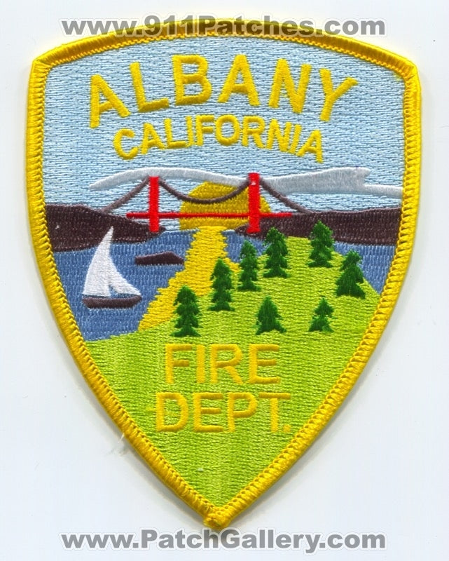 Albany Fire Department Patch California Ca 911patches Com