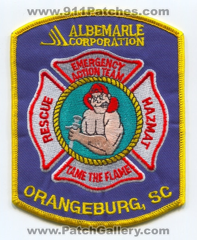 Albemarle Corporation Emergency Action Team Orangeburg Patch South Carolina SC