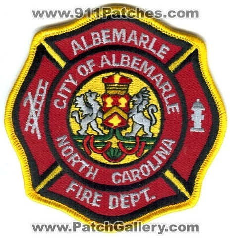 Albemarle Fire Department Patch North Carolina NC