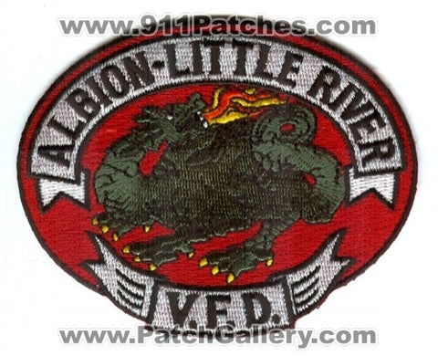 Albion Little River Volunteer Fire Department Patch California CA