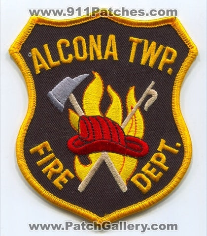 Alcona Township Fire Department Patch Michigan MI