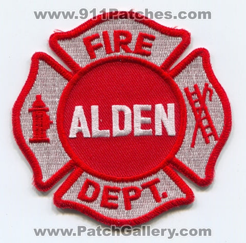 Alden Fire Department Patch Unknown State